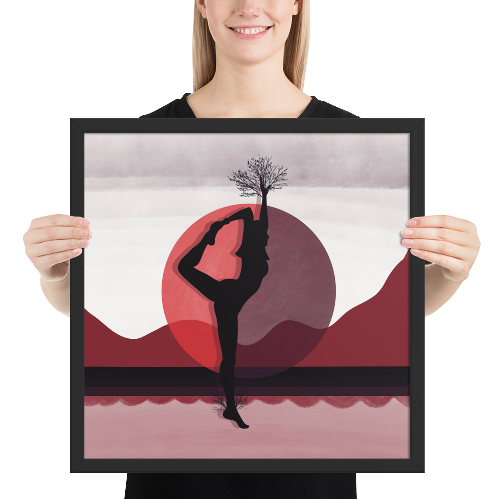 Growth Comes From Within - Red - Meditation and Mindfulness Wall Art