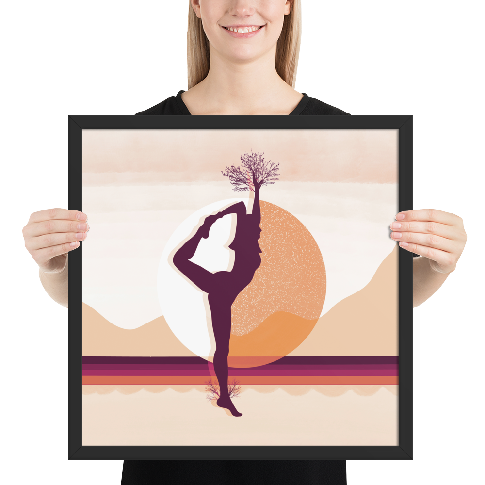 Growth Comes From Within - Orange - Meditation and Mindfulness Wall Art