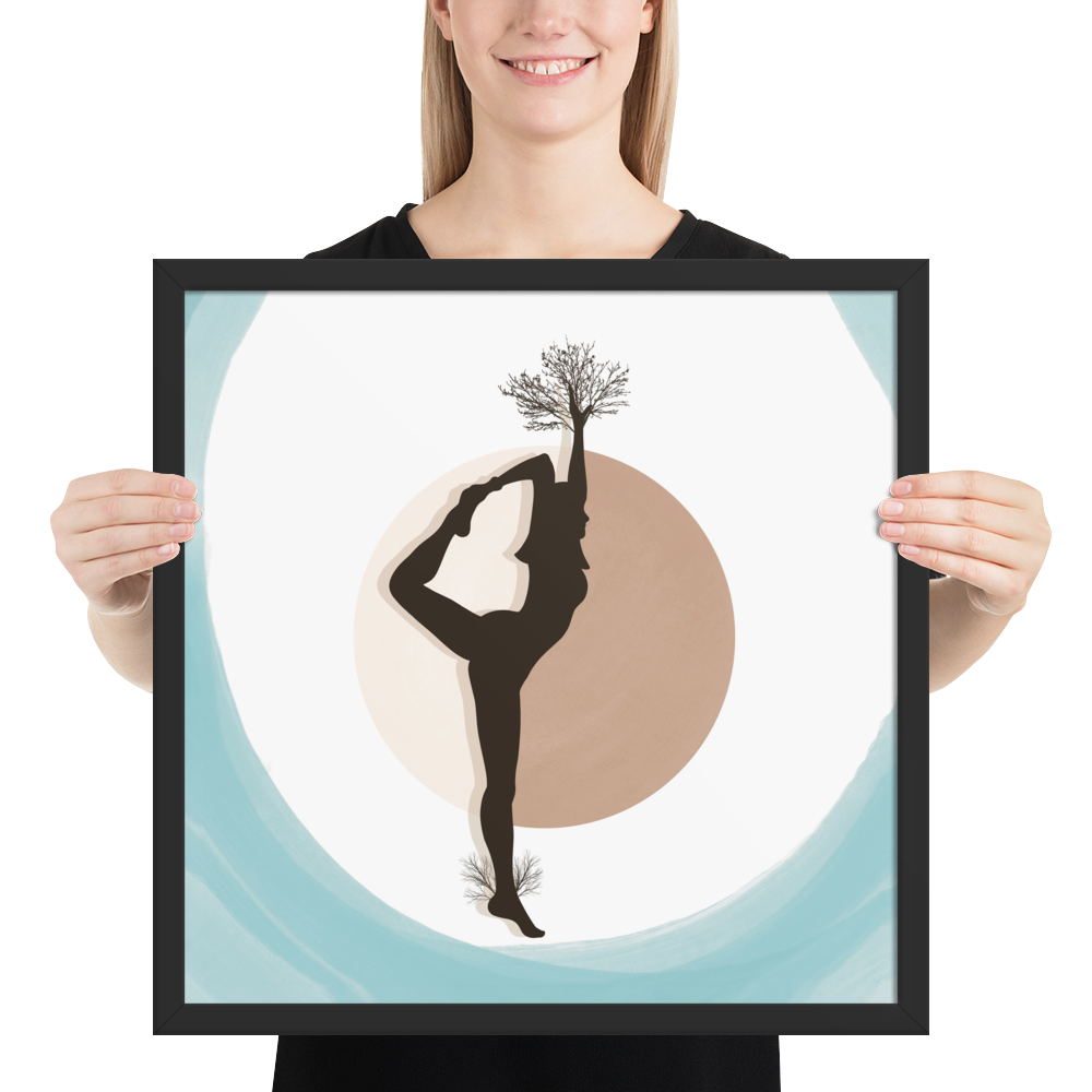 Growth Comes From Within - Cyan - Meditation and Mindfulness Wall Art