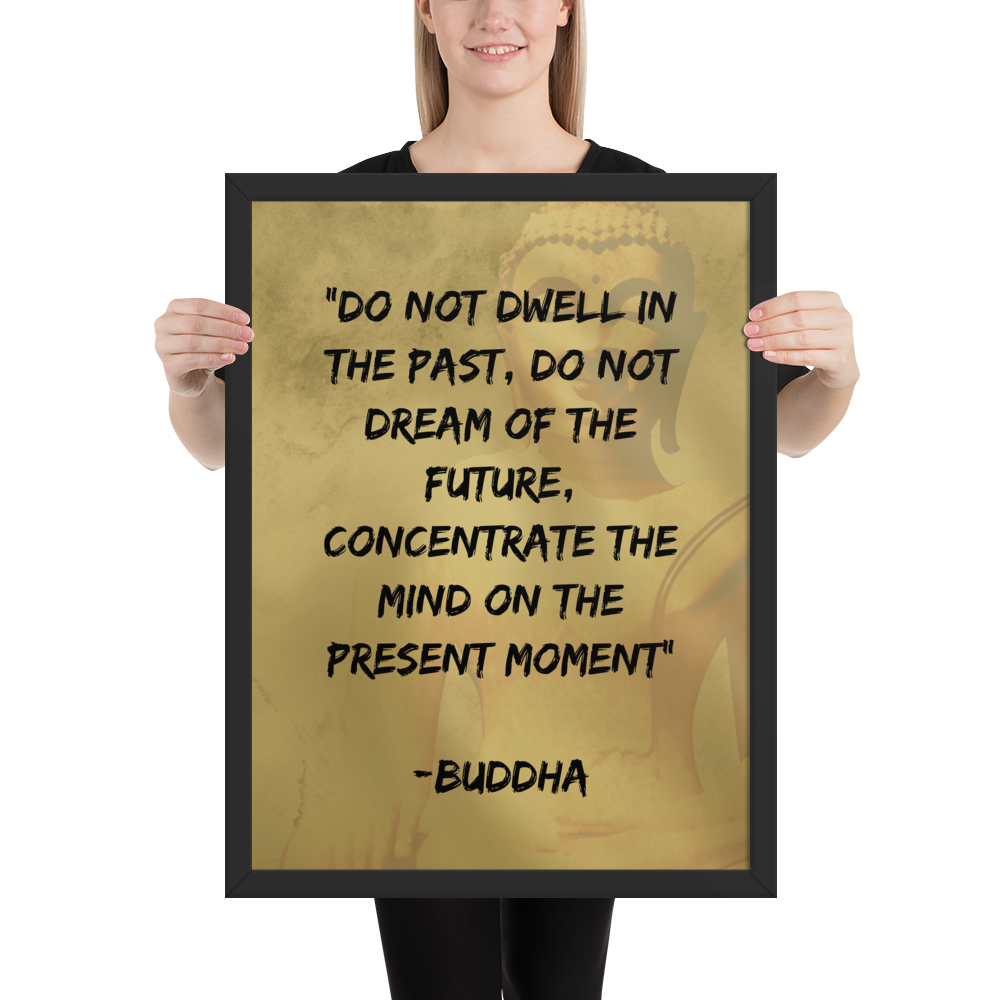 Meditation Wall Art - Buddha - Do Not Dwell In The Past