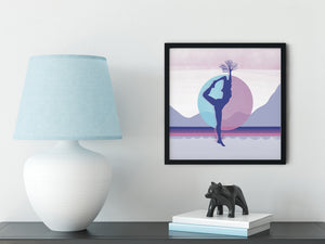 Growth Comes From Within - Magenta - Meditation and Mindfulness Wall Art