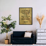 Load image into Gallery viewer, Meditation Wall Art - Buddha - Do Not Dwell In The Past