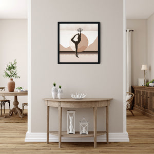 Growth Comes From Within - Brown - Meditation and Mindfulness Wall Art