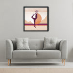 Load image into Gallery viewer, Growth Comes From Within - Orange - Meditation and Mindfulness Wall Art