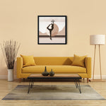 Load image into Gallery viewer, Growth Comes From Within - Brown - Meditation and Mindfulness Wall Art