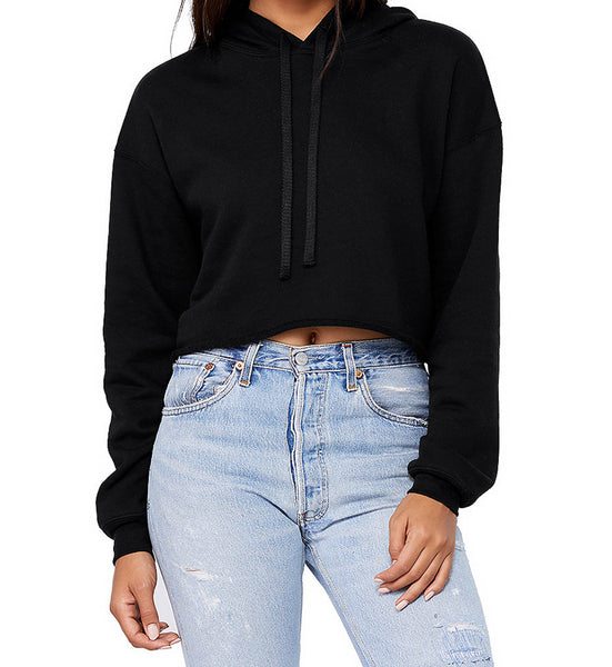 Not Today Satan Cropped Hoodie - Sic Tranist Gloriaa