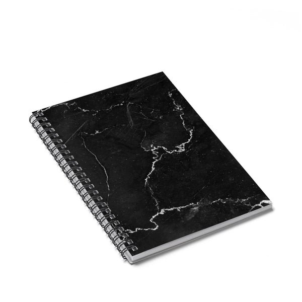 Black Marble Spiral Notebook - Ruled Line - Sic Tranist Gloriaa