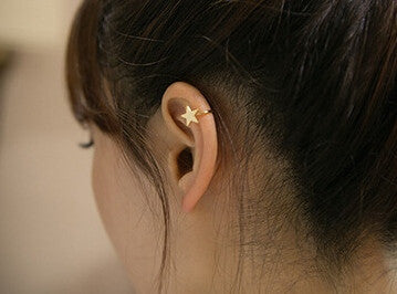 Galaxy Ear Cuff MOON or STAR - Sic Tranist Gloriaa