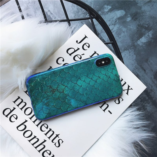 Mermaid Scales Minimalist iPhone Cases - Sic Tranist Gloriaa
