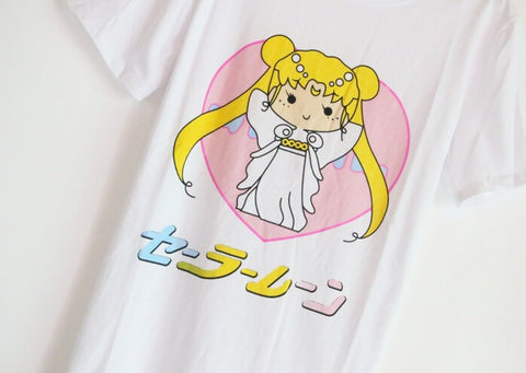 Japanese Kawaii Sailor Moon Tee - Sic Tranist Gloriaa