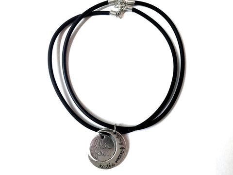 To The Moon And Back Vegan Leather Chokers - Sic Tranist Gloriaa