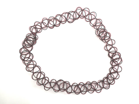 Black/Brown Swirl Tattoo Choker - Sic Tranist Gloriaa