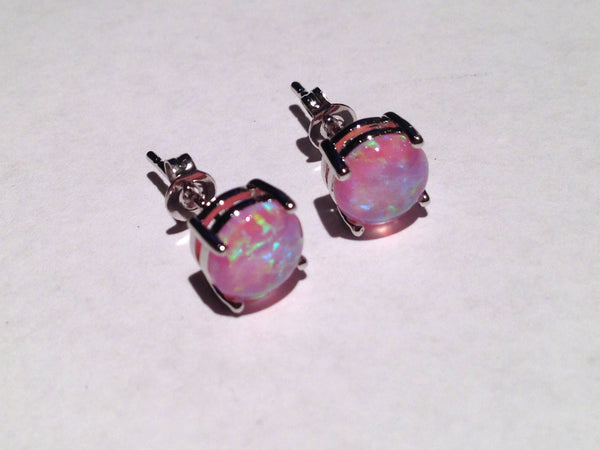 Violet Fire Opal Earrings