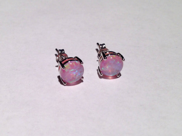 Violet Fire Opal Earrings - Sic Tranist Gloriaa