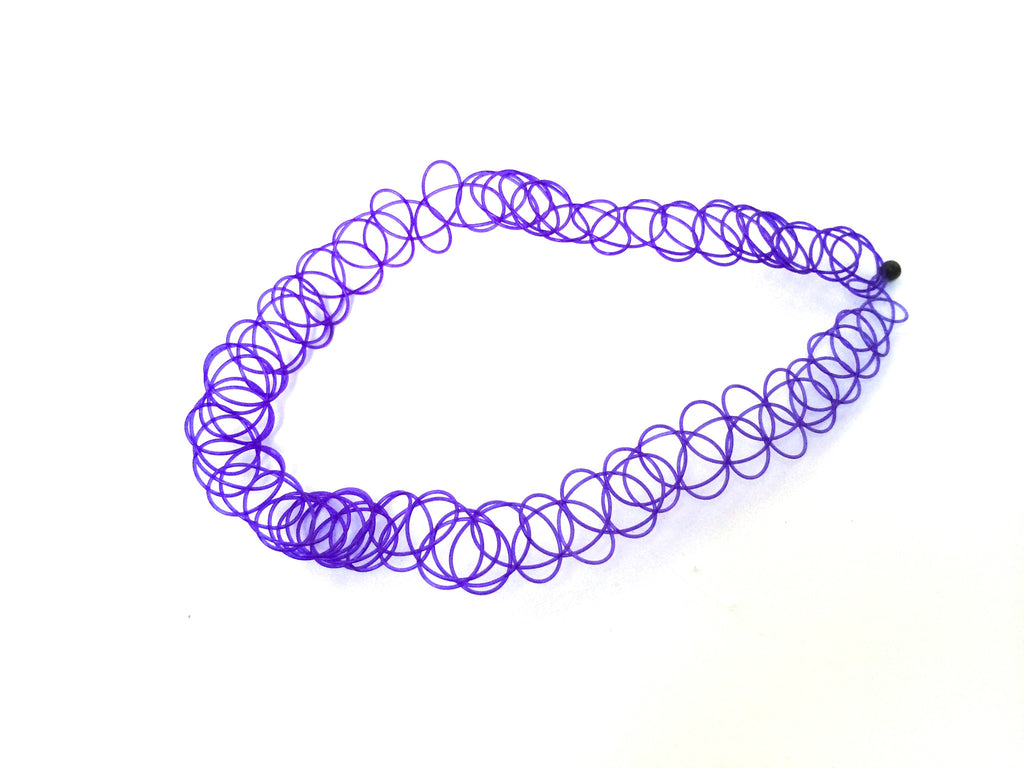Purple Tattoo Choker