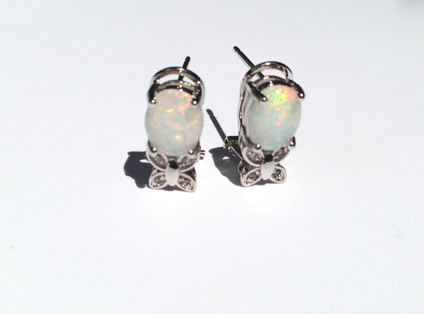 Butterfree Fire Opal Earrings - Sic Tranist Gloriaa
