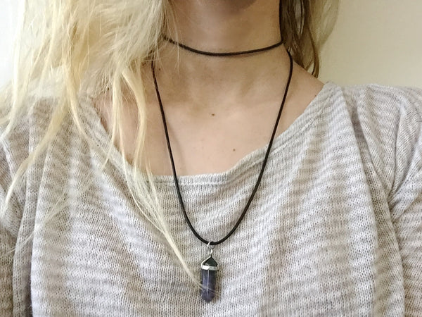 The Wrap Choker NEW DARIA STONE OPTIONS - Sic Tranist Gloriaa
