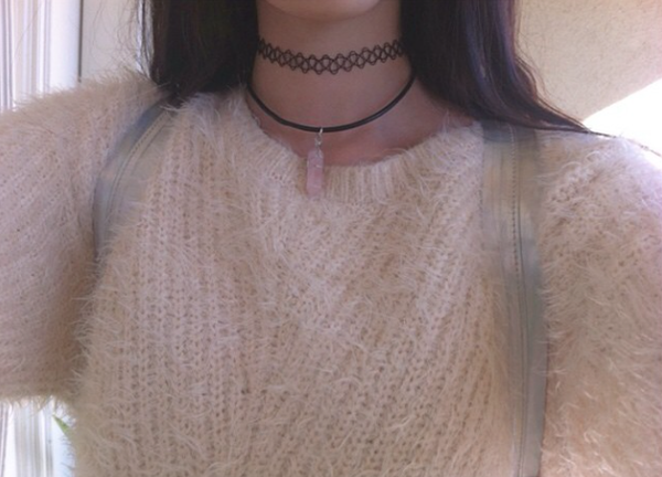 Black Tattoo Choker - Sic Tranist Gloriaa