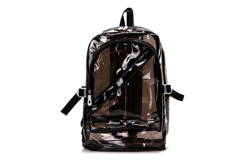 90s Style Translucent Black Backpack - Sic Tranist Gloriaa