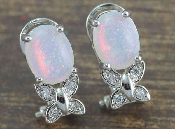 Butterfree Fire Opal Earrings