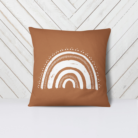 Boho Rainbow Pillow- Mudbath Color - Sic Tranist Gloriaa