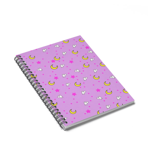 Usagi Sailor Moon Inspired Spiral Notebook - Ruled Line - Sic Tranist Gloriaa