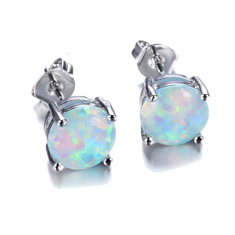 The Original White Fire Opal Earrings - Sic Tranist Gloriaa