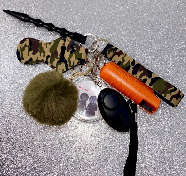 Camo Colors Safety Keychains