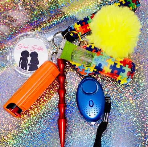 Autism Awareness Safety Keychains