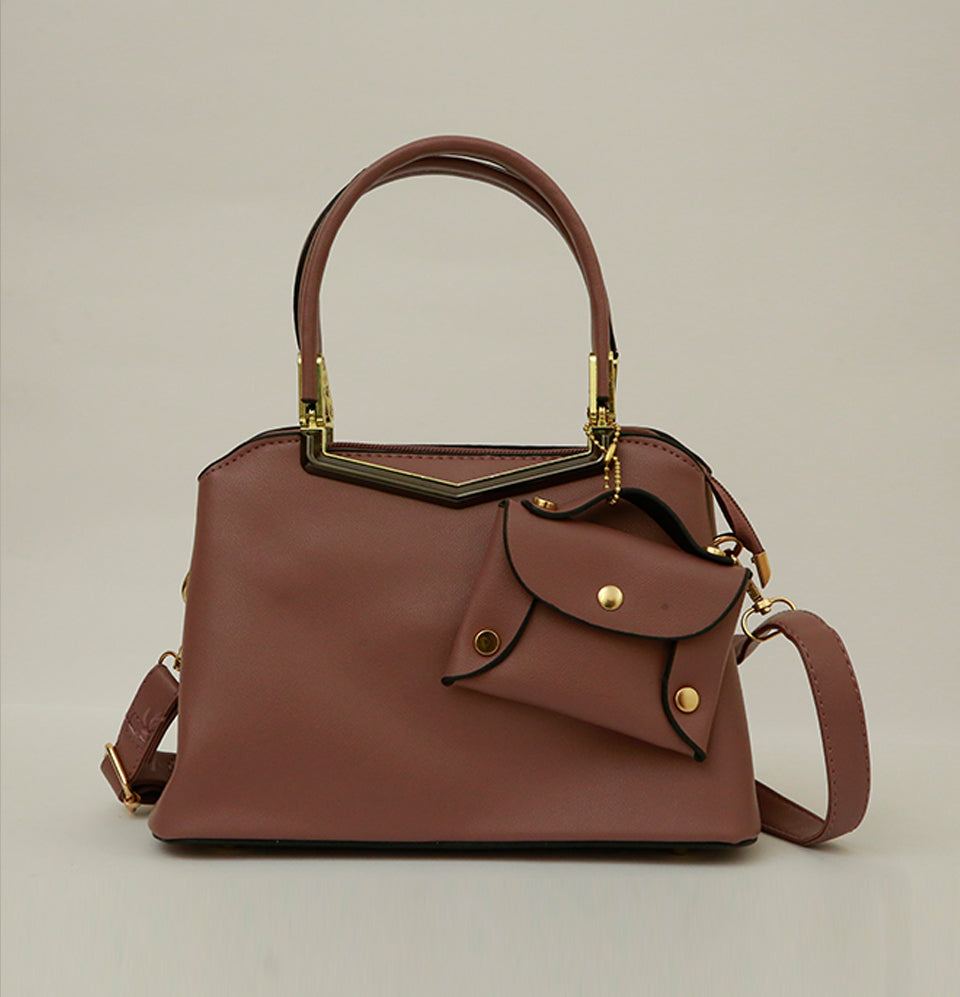 Carrier Plum Hand Bag