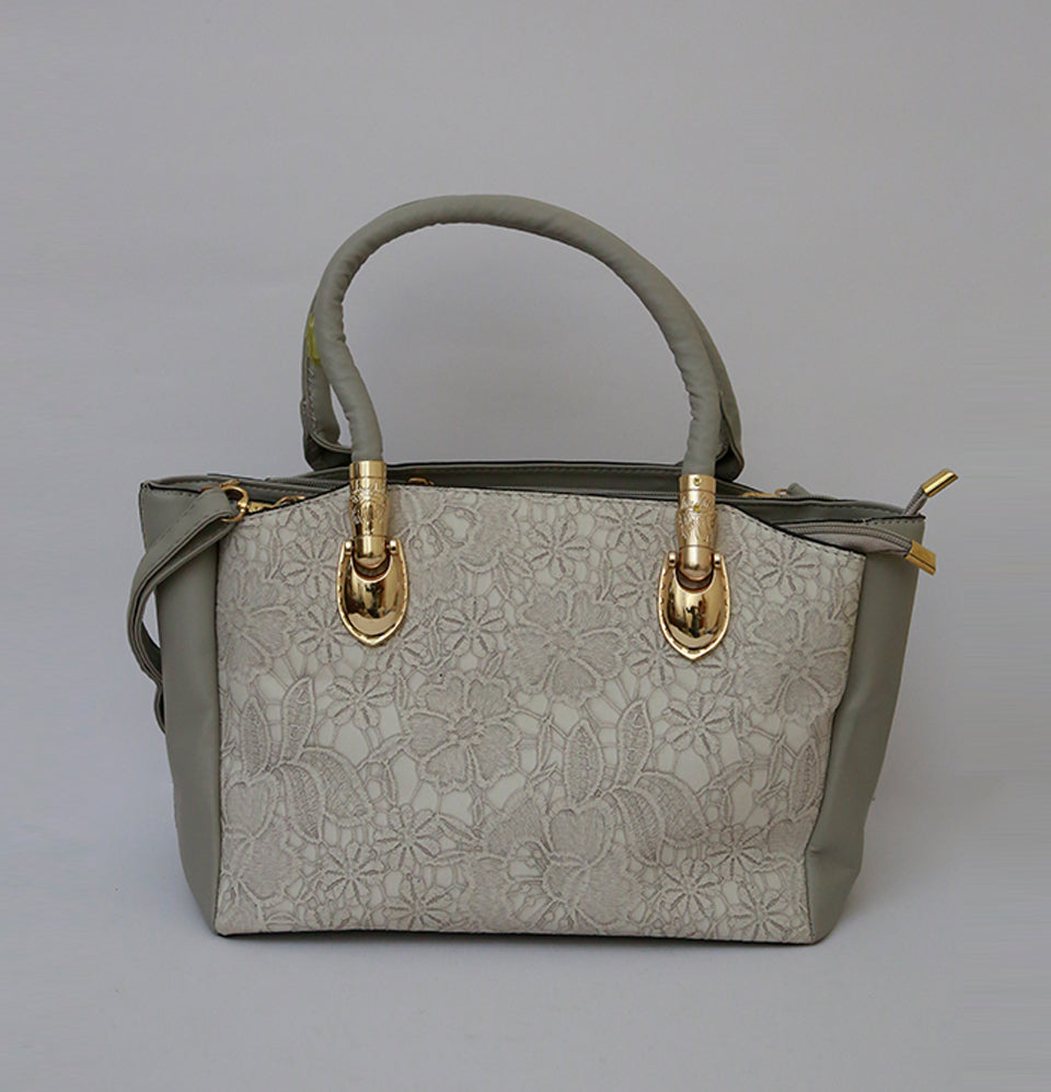 Canves Grey Hand Bag
