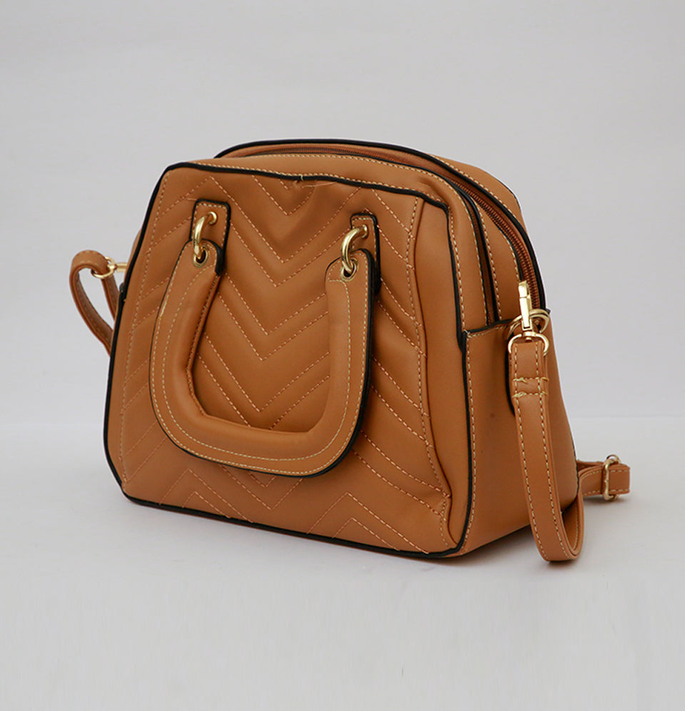Brown Threaded Bag