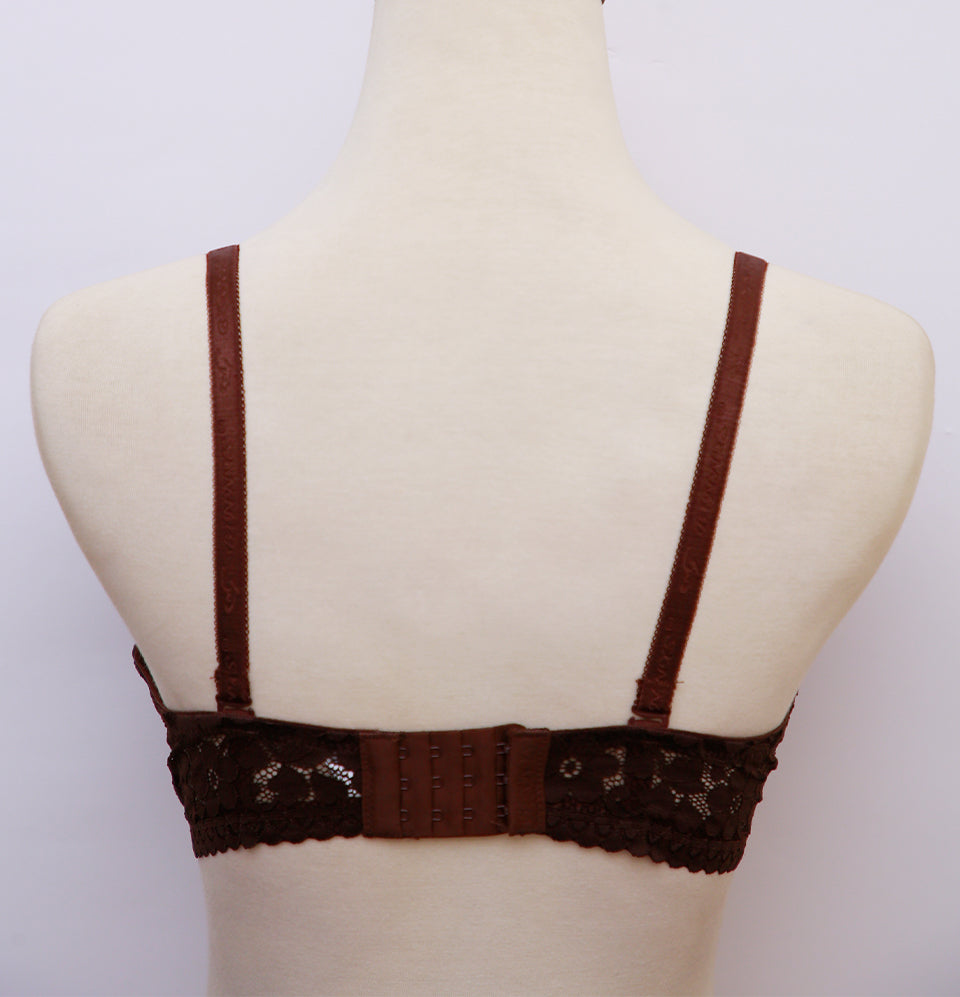 Small Dotted Bra Brown