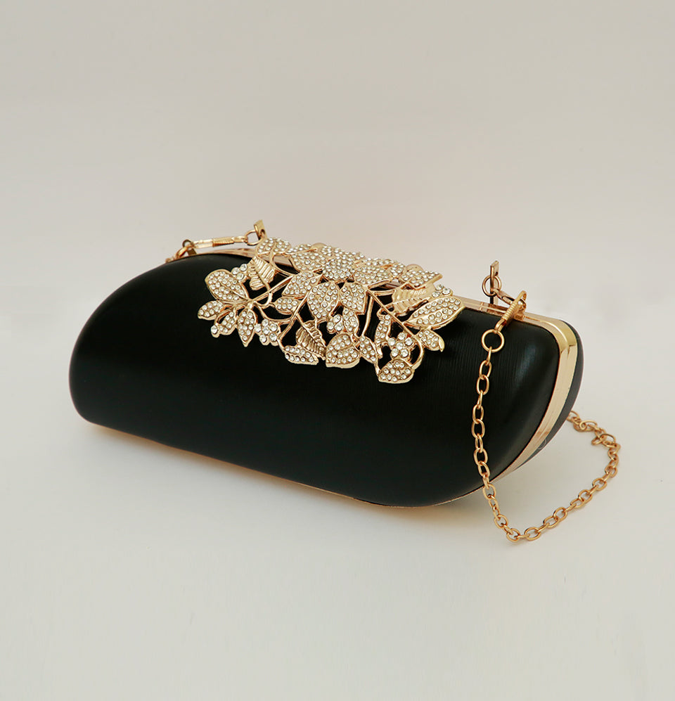 Black Leatherette Clutch