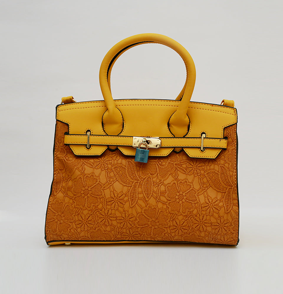 Embroidered Leatherite Bag