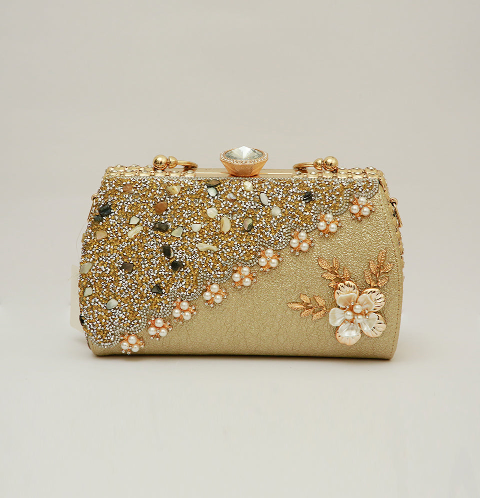 Flower Pearl Hand Bag