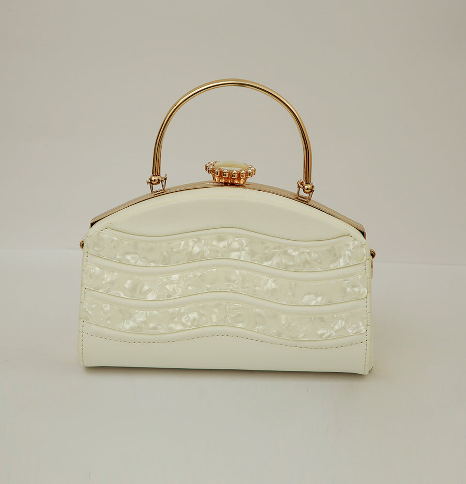 White Prism Hand Bag