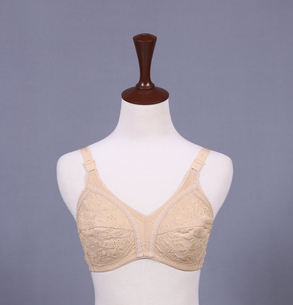 Full Floral Thread Bra