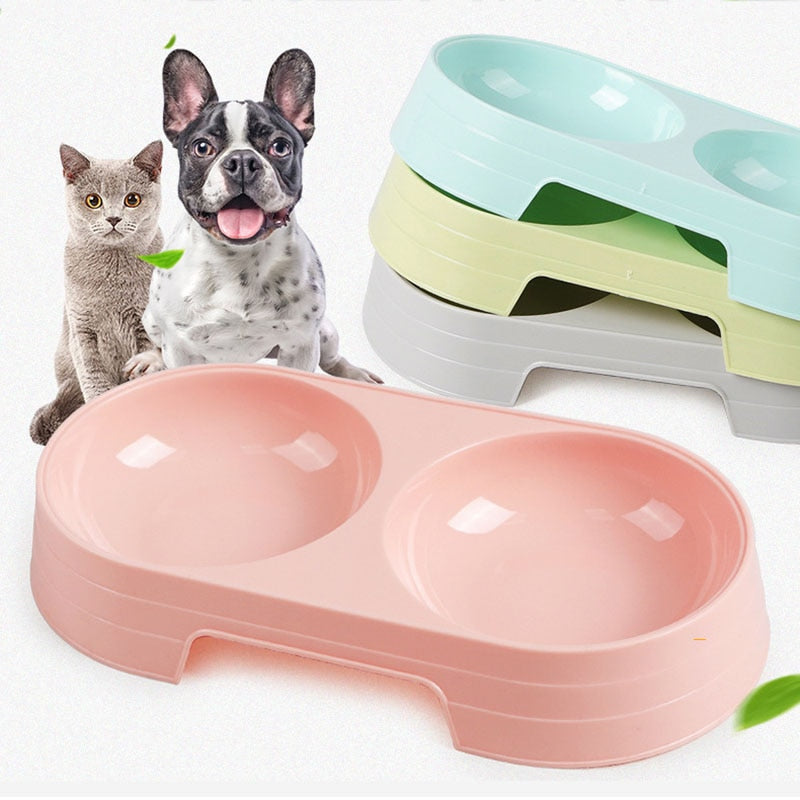 Double Dog Bowl Food Water Feeder
