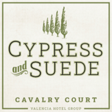 Cavalry Court Cypress and Suede Candle Label