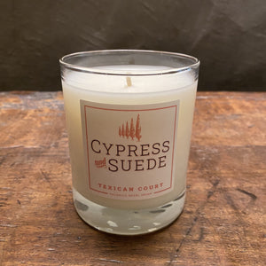Texican Court Cypress & Suede Candle