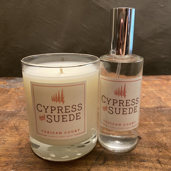 Texican Court Cypress & Suede Candle and Spray Combo