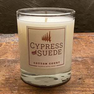 Cotton Court Cypress and Suede Candle