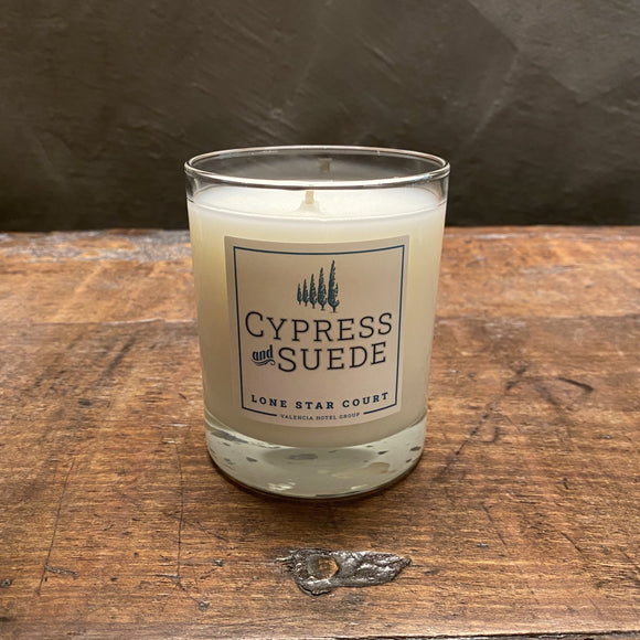 Lone Star Court Cypress and Suede Candle