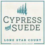 Lone Star Court Cypress and Suede Candle Label