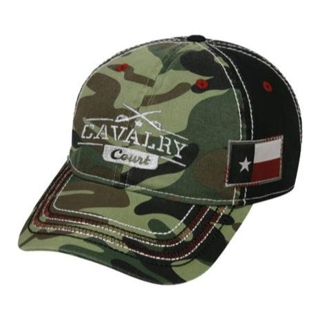 Cavalry Court Adjustable Texas Flag Cap