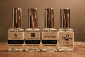 VALENCIA HOTEL GROUP SIGNATURE SCENT FRAGRANCE SPRAY SET (Aria | Sevilla | Oak & Ember | Cypress & Suede)