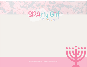 Hanukkah Card - Sparty Girl