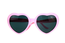 Load image into Gallery viewer, Teen/Adult Heart-Shaped Pink Sunglasses - Sparty Girl