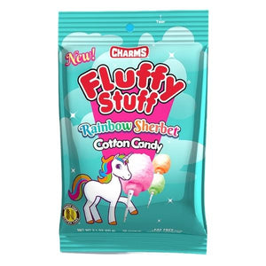 Fluffy Stuff Unicorn Rainbow Sherbet Cotton Candy - Sparty Girl